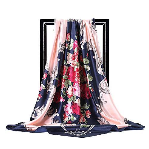 Bufanda De Hoja De Arce De Color Para Mujer, Impresión De Brazalete, Bufanda De Flor Rosa, Adecuada Para Vacaciones De Ocio Y Vida Diaria