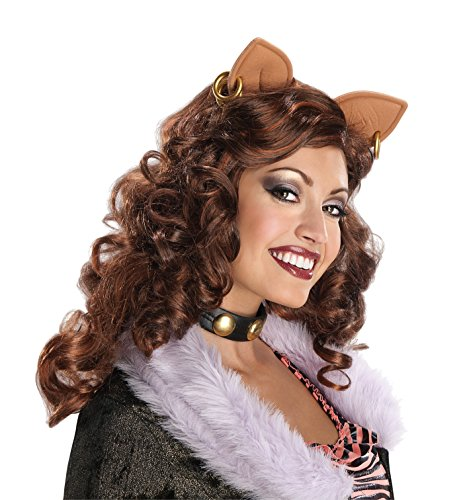 Costume Accessory Monster High Adult Clawdeen Wolf Wig Red