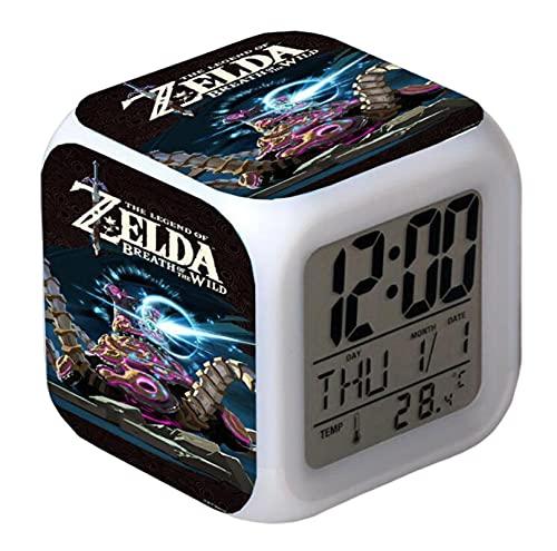 Zelda Wecker Kinder Wecker Weckzeit/Datum/Wecker/Temperatur Snooze Bedside Led Nachtlichtuhr