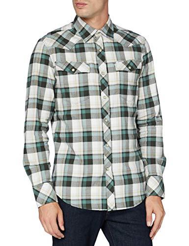 G-STAR RAW 3301 Slim Camisa, Cheque Jacob de la Selva C417-B775, X-Small para Hombre