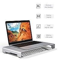 ラップトップスタンドは、アルミ合金コンピューターは、デスクトップ身長エクステンダーホルダーLapdesksノートパソコンのモニタが安定したPCスタンドノートブックテーブルスタンドスタンド