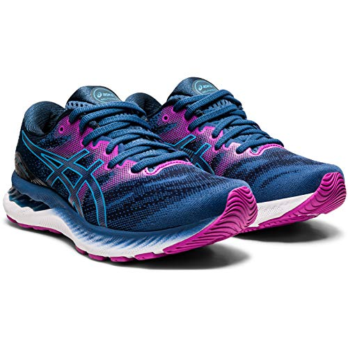 Asics Gel-Nimbus 23, Zapatillas para Correr Mujer, Grand Shark/Digital Aqua, 39 EU