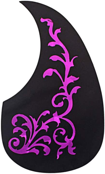Milisten Rosy Vine shopping Patterned Guitar Pickguard Year-end annual account Elec Adhesive Self