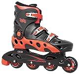 Linear Durango Inline Skates - Black & Red, Mens 11/Ladies 12, Unisex Skate w/Soft Shell Interiors, Racing Roller Skates, Inline Speed Skate