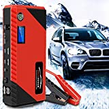 HPDOM 12V 20000mAh Arrancador portátil para automóvil, Cargador de Refuerzo de batería para automóvil multifunción, Dispositivo de energía de Emergencia de Refuerzo con 4 Puertos USB Linterna LED