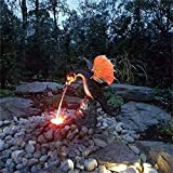 """Lighted Water Dragon Foutain,Dragon Handmade Sculpture Waterscape, Fire-Breathing Dragon Statue, 11""""x13""""x11"""" Precision Resin Casting Art Dragon Decoration, for Rockery Fountain (1 Pcs)"""