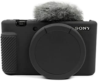 MUZIRI KINOKOO Silikon Ccase für Sony ZV 1 Schutzhülle Sony ZV1 Silikon Case Rubber Skin Sony ZV 1 Kamera Hülle (Schwarz)