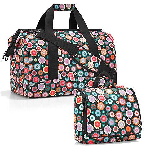 reisenthel Gilching reisenthel allrounder L mit toiletbag XL und wahlweise mit extra Zugabe Reisetasche Waschtasche (happy flowers)