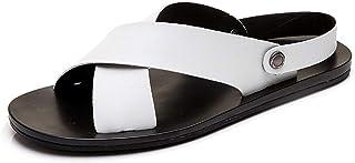 Men Sandals Sandals for Men Open Toe Crisscross Strap Summer Beach Casual Slip On Slippers Microfiber Upper Lightweight No...