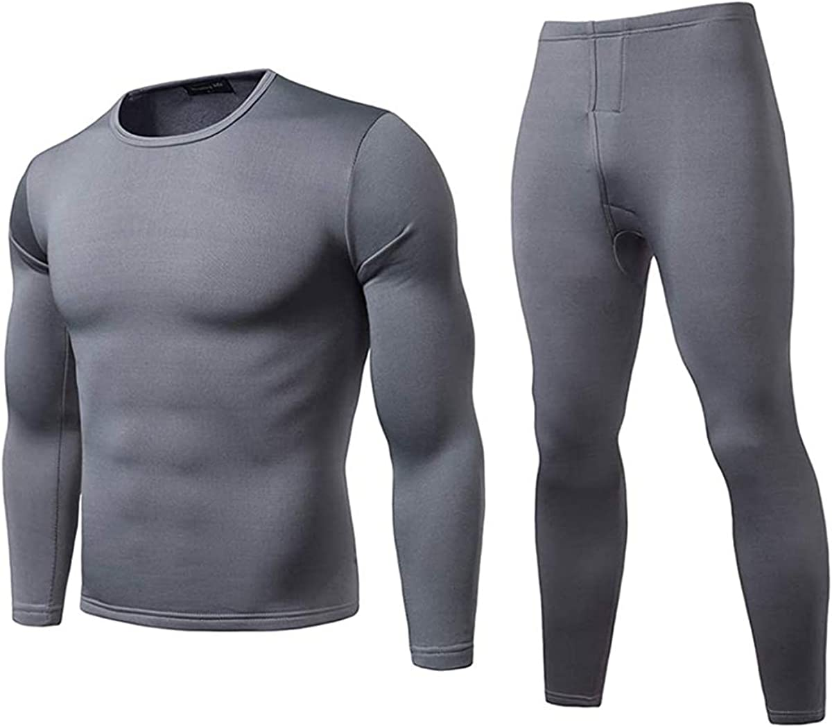 BABAMOON Men's Thermal Underwear Ultra Soft Thermal Underwear Set Winter Warm Johns Set Fleece Lined Tops Bottoms Outfits