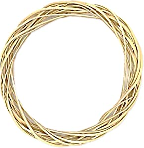 Floral Garden Classic Willow Wood Wreath, Natural Color, 12 Inch, 2 Pack
