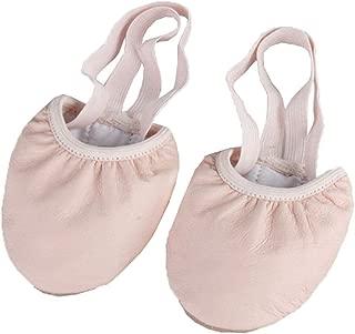 Inlefen Female Round Toe Non-Slip Bottom Ballet Practice Half-Foot Shoes