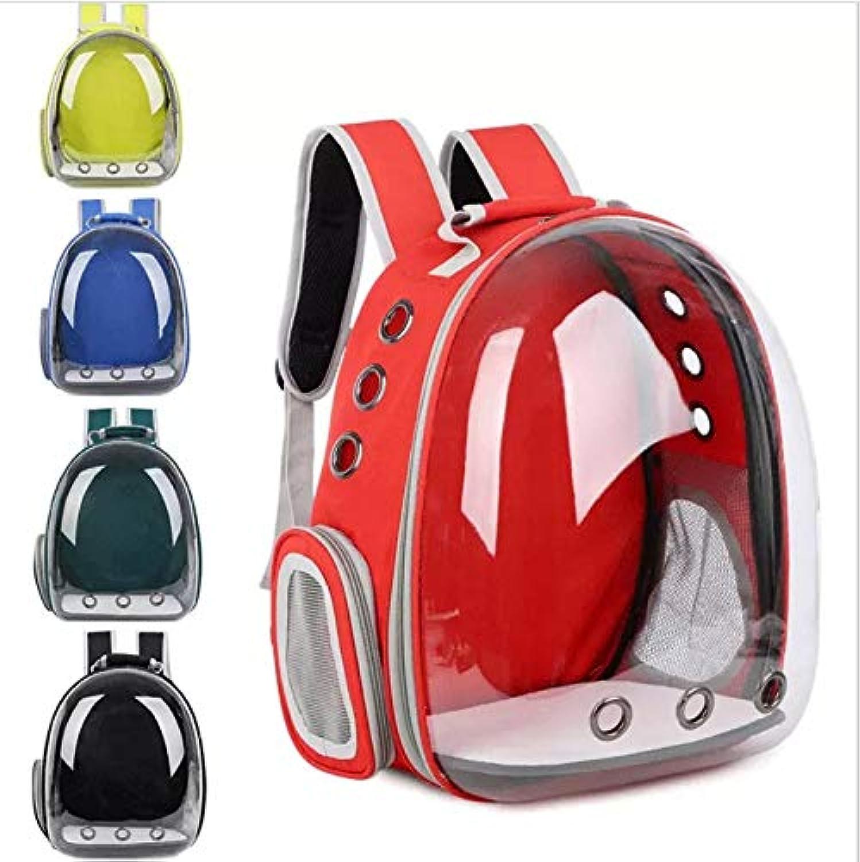 Amio Cat bag transparent pet bag Pure color portable cat bag dog bag Pet out space capsule bag Pet backpack (color   Green)