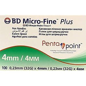 buy Bd Micro Fine Plus 32g X 4mm Pen Needles 100 Count Diabetes Care