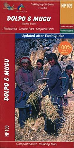 Dolpo & Mugu 1:150 000 NP109: Phoksumdo - Chharka Bhot - Kanjirowa Himal. Himalaya Map House Map