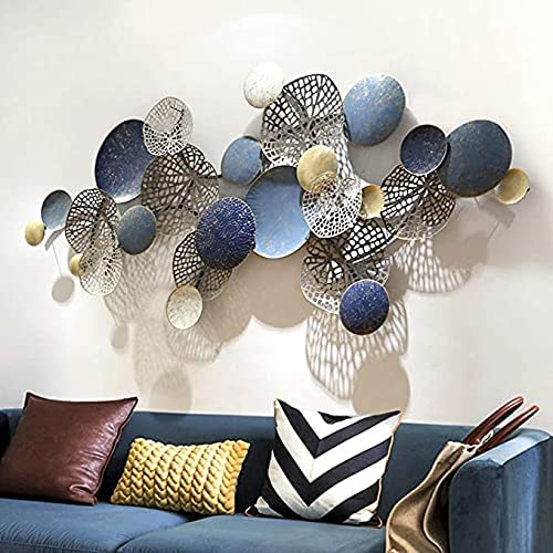 sdfds Creative Metal Wall Décor Lotus Gorgeous Wrought C Circle cheap Leaf Iron