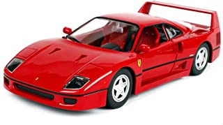 LMEI-Cars Ferrari F40 Model Car - 1:24 Red Classic Sports Car, Static Simulation Die-Casting Model, Metal Body, Finished Model, Limited Edition Car Model Collection
