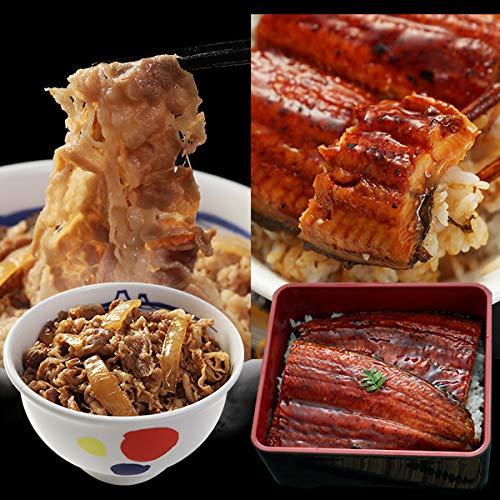 【松屋】鰻・牛めしコンボセット30個(乳酸菌入牛めしの具×30 鰻カット80g 1枚) 牛丼