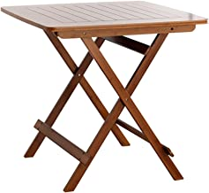 Yxsd Folding Table Stool Bamboo Portable Table Folding Small Table Simple Household Small Apartment Table Small Square Tab...
