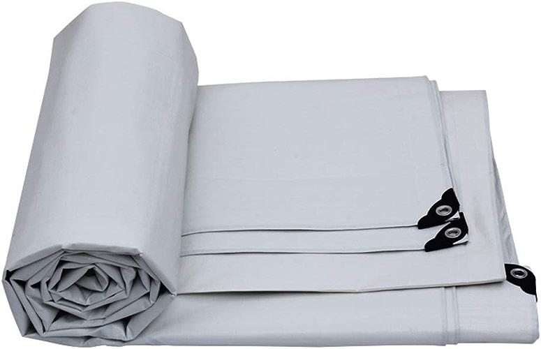 QYJpB Heavy Duty Tarpaulin Tapis De Couverture De Bache Camping Bache Extérieur épais Imperméable Poncho Couverture De Bache Tissu Sun Prougeection Couverture De Camion Toile (Taille   5x6m)
