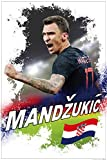 1art1 Fußball - Mario Mandzukic Kroatien XXL Poster 120 x