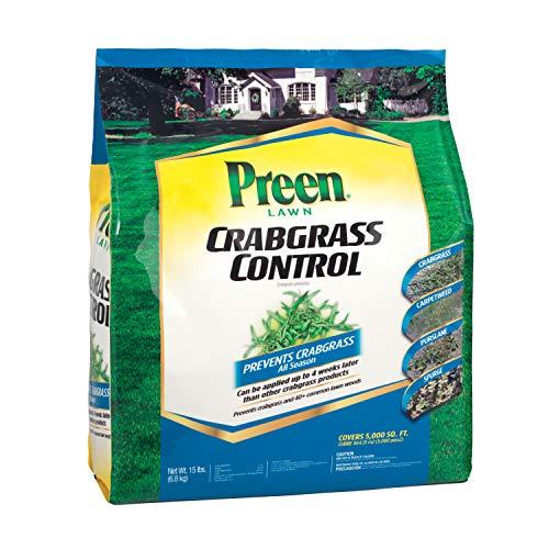 Preen 2464064 Lawn Crabgrass Control, 15 lb, Covers 5,000 sq. ft