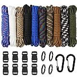 10 pcs Multifonction Paracordes pour Parachute Bracelet Set de Bracelet Paracord...