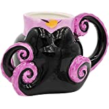 Silver Buffalo Disney Villain Ursula Tentacles Ceramic 3D Sculpted Mug, 20 Oz, Black