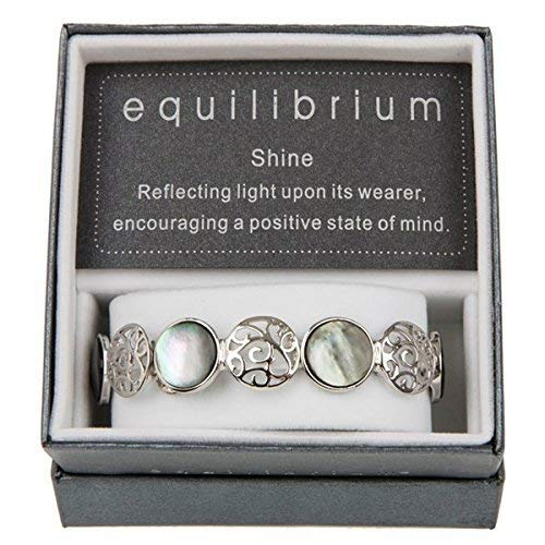 Filigree & Pearl Shell Circles Elasticated Bracelet - EQUILIBRIUM RANGE