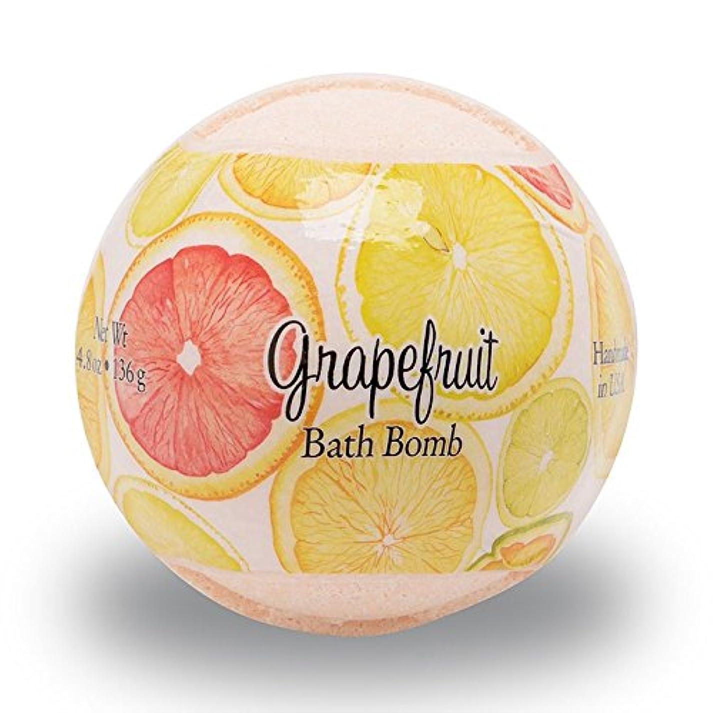 例示する普及一流プライモールエレメンツ バスボム/グレープフルーツ 136g シアバターとココナツ&アルガンオイル配合のお肌に潤いを与える発泡性入浴剤