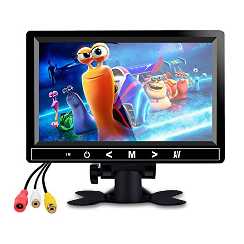 7 Inch Car Bluetooth Monitor TFT LCD Rear View Screen for Parking Rear View Backup Camera with USB/SD Card to Player MP5 Music (Built-in Speaker) Multimedia Monitor
