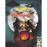 "HAPPY Helloween: Coloring Books For Teens Big Size 8.5"" X 11"" Perfect Gift For Any Holidays"