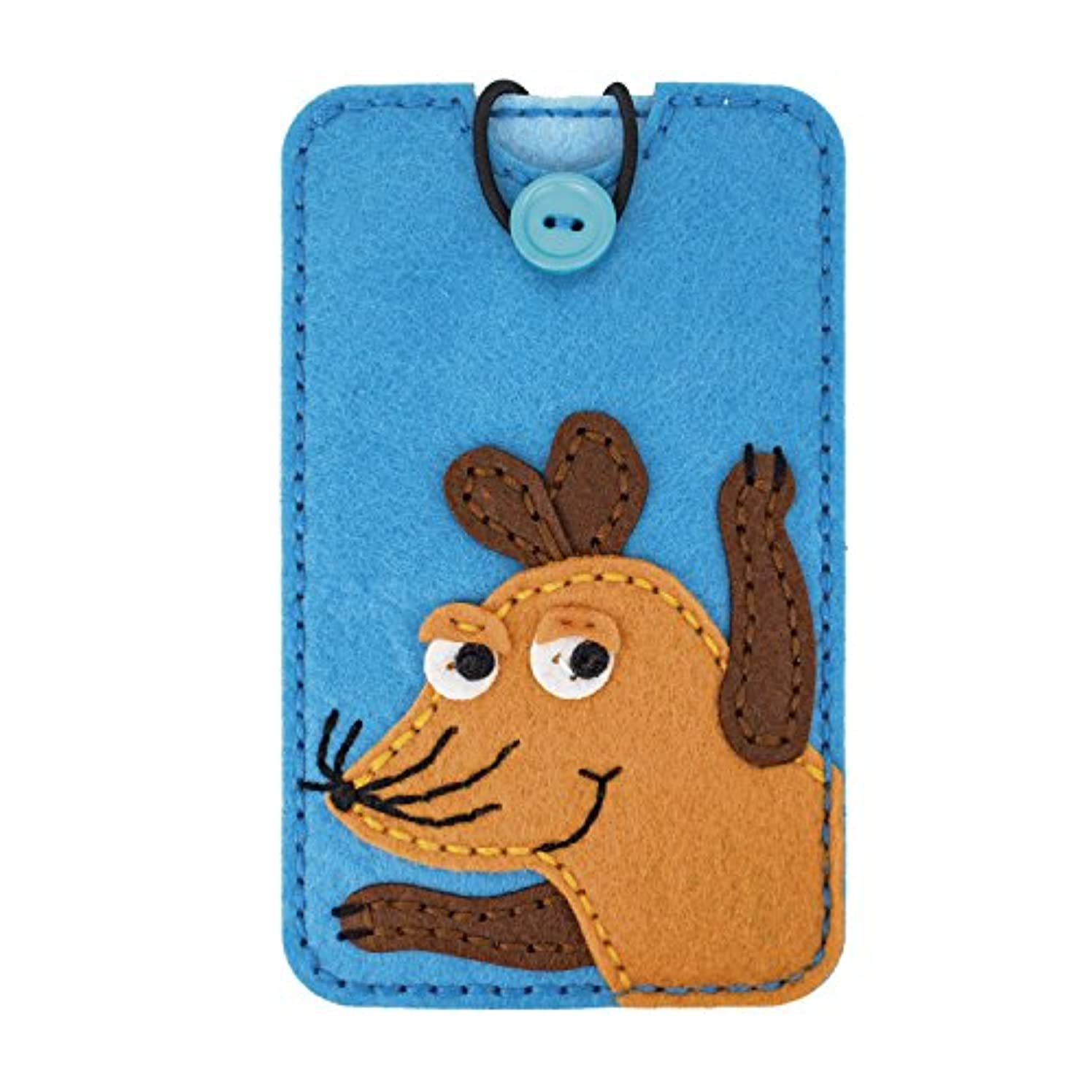 Wenco Felt Craft Kit Smartphone Case Rubber Sendung mit der Maus, Polyester, Acrylic, Blue, 1.5?x 10?x 20?cm