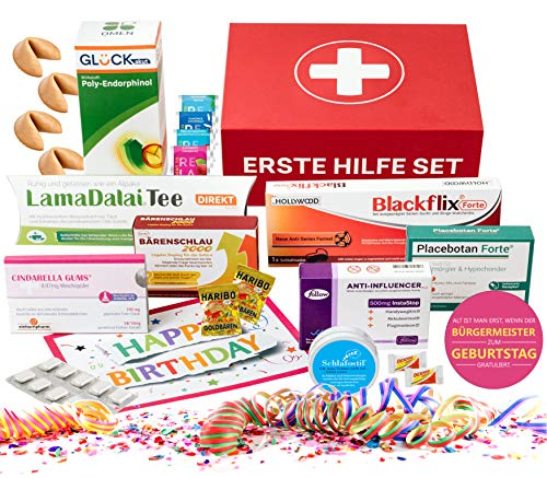 Lustiges Geburtstagsgeschenk | Neues Design 2021 - Robuste Magnetbox | Geschenkbox | 10-teiliges Geschenkset inklusive Geburtstagskarte | Spaßgeschenk für Männer und Frauen