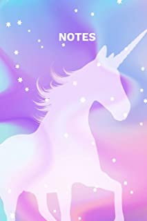 Notes: A Whimsical Magical Unicorn Galaxy Stars, Cupcakes and Doodle Rainbows Notebook Journal - Magical Forest Fairies, L...