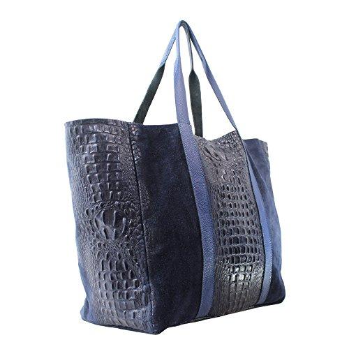 Chicca Borse 80043, Borsa a Mano Donna, Blu, 62x36x21 cm (W x H x L)