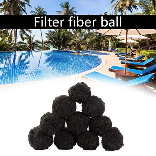 Filterballen, zwembadreinigingsbal, herbruikbare filterfiltratieballen, vezelvezelbal voor zwembad, zandfilters