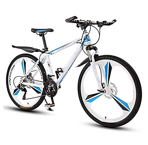 UNCTAD 26 Inches Folding Mountain Bike Applicable Height is 140-185cm - 21 Speed Durable Non-slip Adults Folding Mountain Bike - Portable Compactlightweight Men's Mountain Bike - White