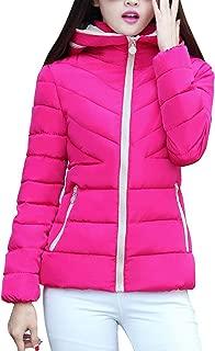 JESPER Women's Hooded Thickening Short Slim Down Coats Outwear Winter Warm Jacket