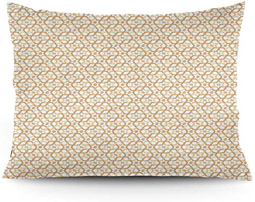 Keyboard cover Six Lace Stars Overlapping Hexagon Mosaic Design Printed Cushion Cover 16' x 24'