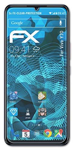 atFolix Schutzfolie kompatibel mit Vivo Y70 Folie, ultraklare FX Bildschirmschutzfolie (3X)