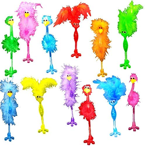 Fun Flamingo Pens Set-funky animal feather pen Party Favor Easter Basket, Stocking Stuffer Christmas or Birthday!(12 Pack)