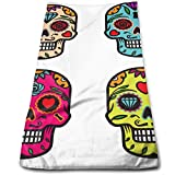 Hectwya Set Vector Skulls toallas de mano suaves y altamente absorbentes