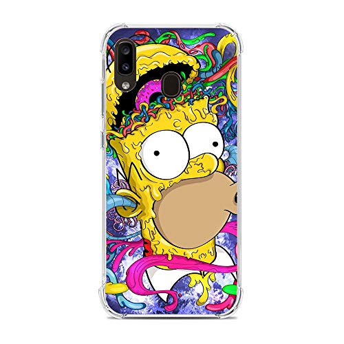 Soft Clear Shockproof Thin Durable Flexible Case for Samsung Galaxy A10e/A20e-The-Simpson Homer-Father 2