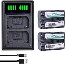 Tectra 2 Pack NP-FM500H NPFM500H Battery and LED Dual Charger for Sony Alpha SLT A58 A57 A65 A77 A99 A77V A77II A350 A450 A500 A550 A700 A850 A900 Alpha a99 II CLM-V55 DSLR Camera