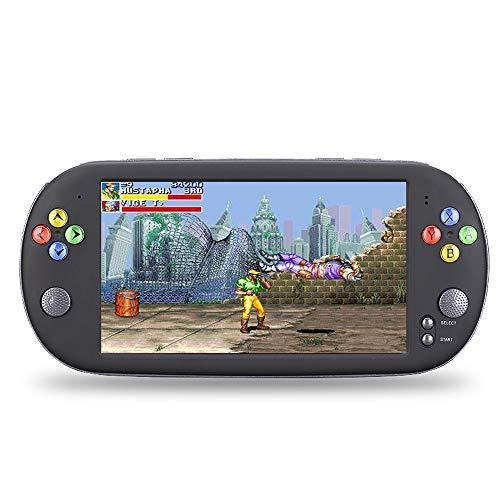 Pinjeer Moda 7 Pulgadas Pantalla HD Arcade Retro Consola de Juegos Thounds Games Incorporada Salida de TV portátil FC Game Player Juguetes de Carga Consola de Juegos Regalos para niños