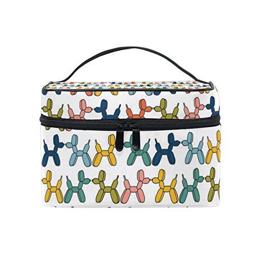 COOSUN Ballon Honden Cosmetische Tas Canvas Reizen Toilettas Top Handvat Enkele Laag Make-up Tas Organizer Multifunctionele Cosmetische Case voor Vrouwen