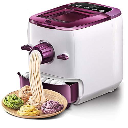 YXMxxm Máquina De Pasta Eléctrica Automática con 8 Moldes,Máquina De Fideos Multifuncional, Espaguetis Y Fettuccini Caseros,Lasaña,Bola De Masa