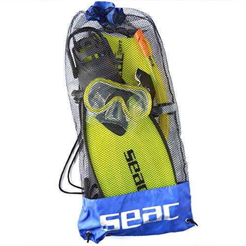 Seac Sub Schnorchelset Tris Sprint gelb Größe 36-38 verstellbar