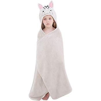 Premium Soft Swimming Bathrobe Large Washcloths 27.5 x 45.5 for 0-7T MICHLEY Cartoon Hooded Baby Towel Unisex Blue